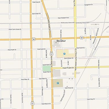 Map of Decatur Illinois
