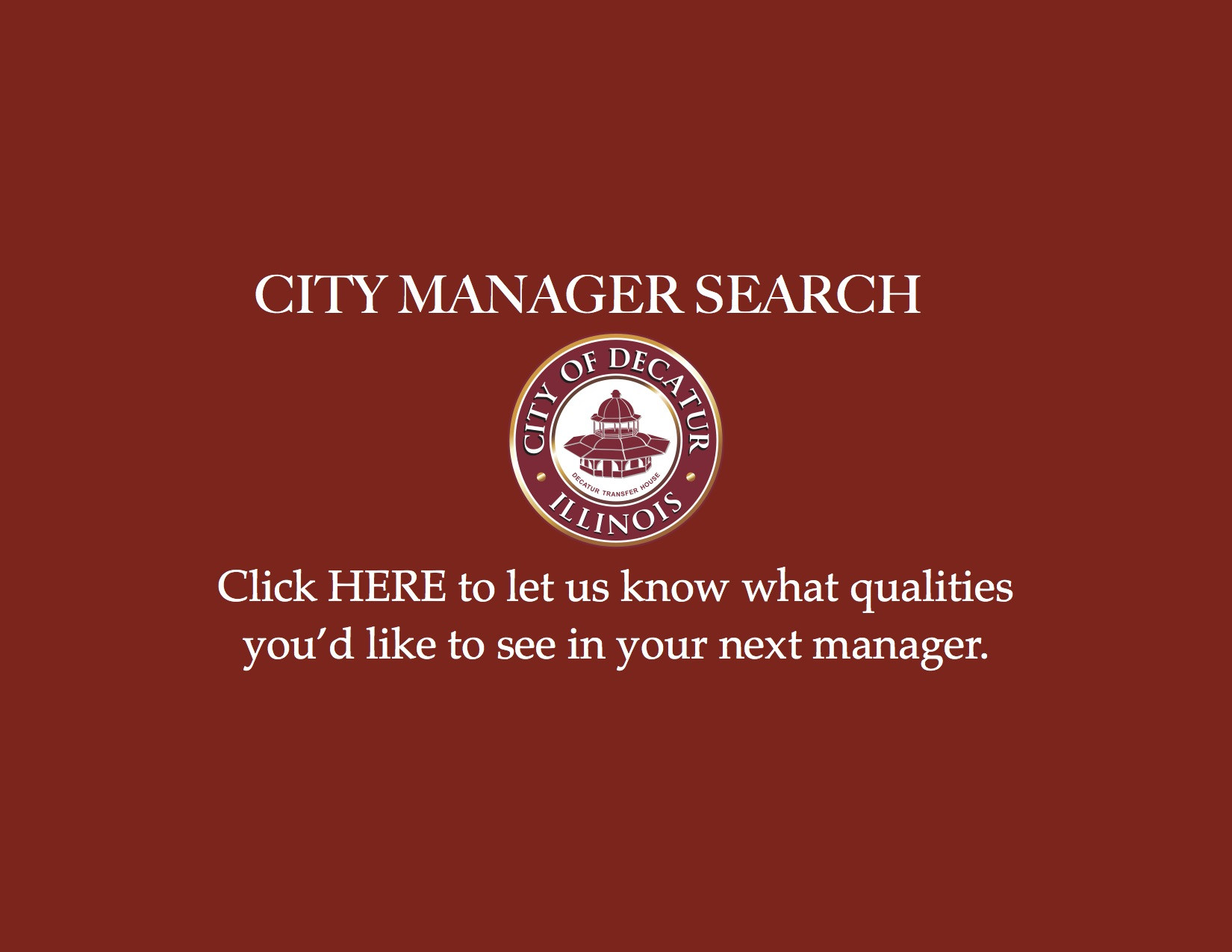 City Manager Search – Cover